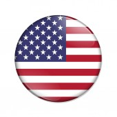 United States country flag badge button