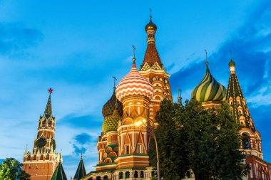 St. Basil's Cathedral and Spasskaya Tower, Red Square, Moscow
