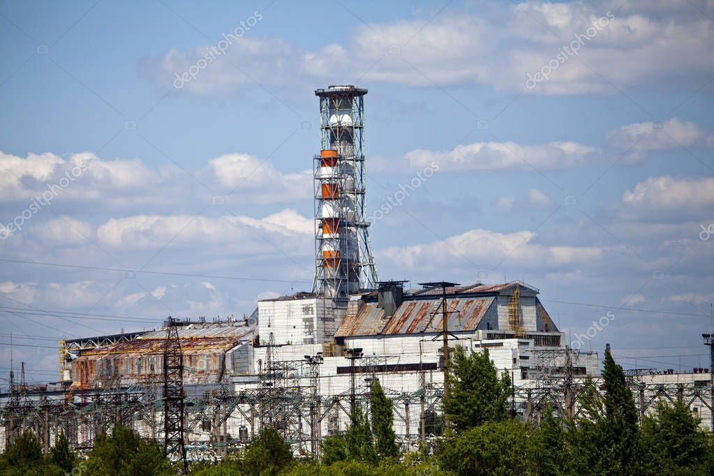 Old Sarcophagus Pipes Damaged Reactor Number Chernobyl