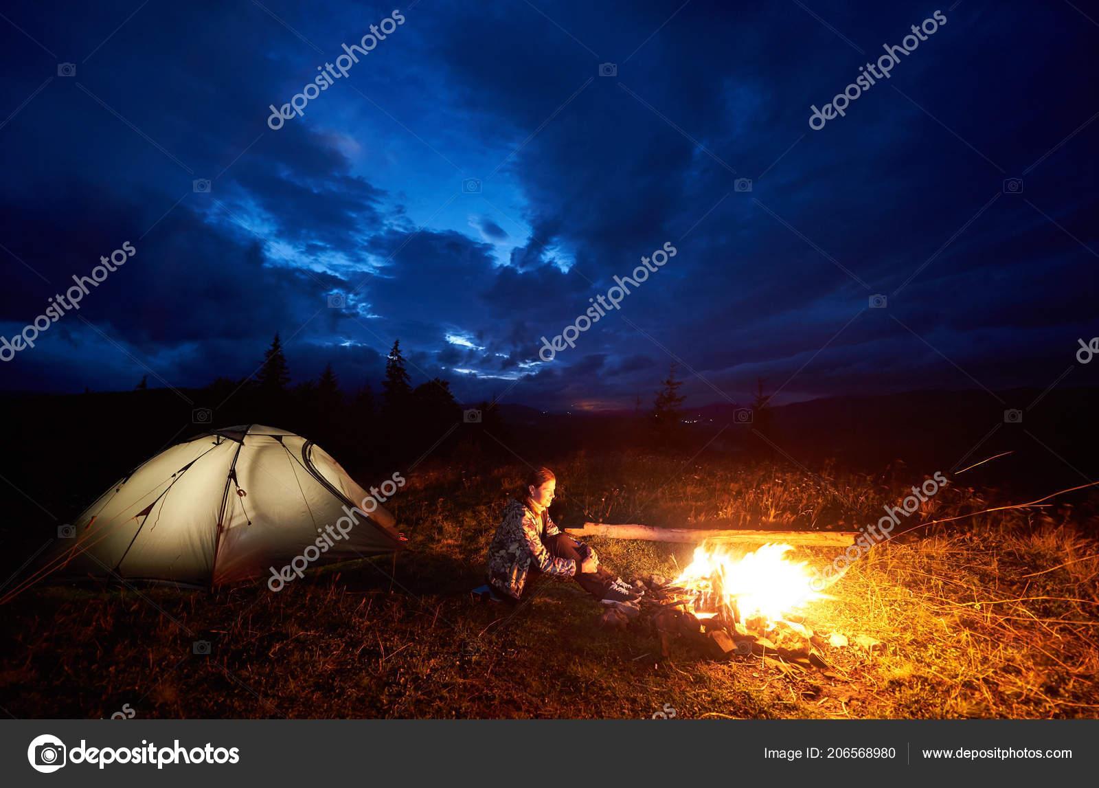 интернет ретро фото лампово костер палатка можно насладиться фотографиями