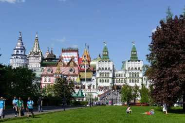Moscow/Russia - May, 2018: View of Izmailovo Kremlin