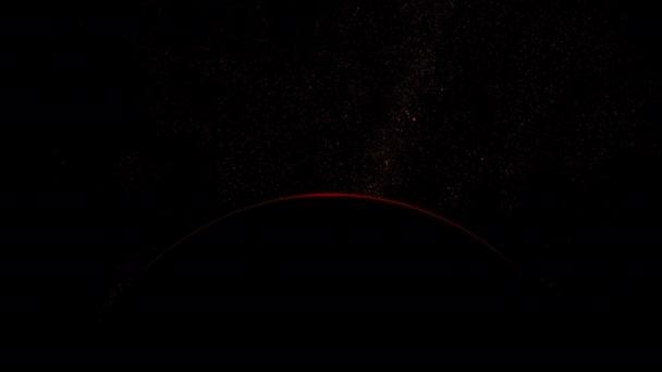Měsíc Rudé planety s východem slunce