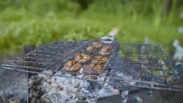 Gomba barna csiperkegomba főtt grill-vagy grill szabadban