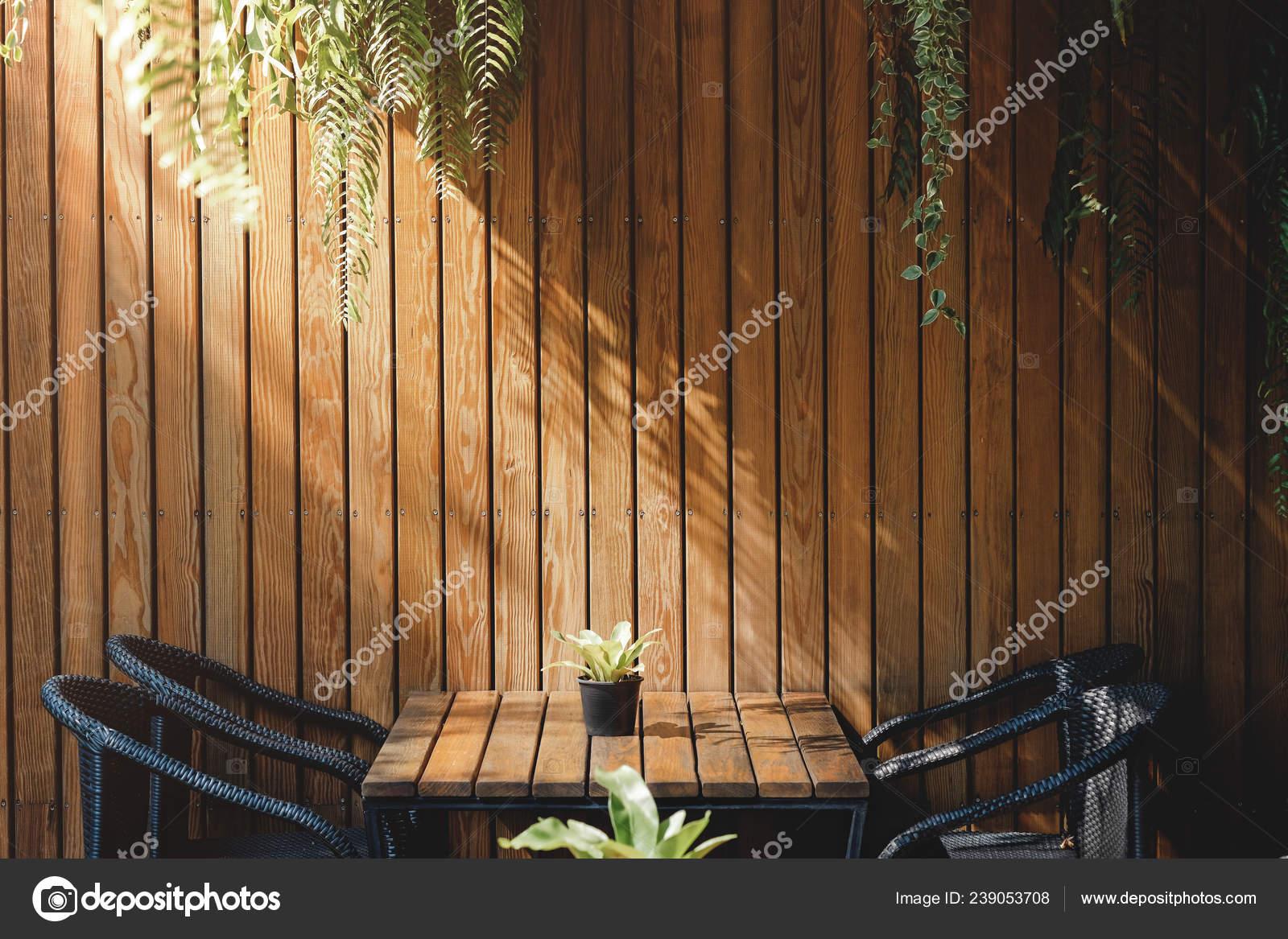 Wooden Wall Restaurant Cafe Contemporary Interior Design Natural Daylight Stock Photo C Sirinapawannapat Gmail Com 239053708