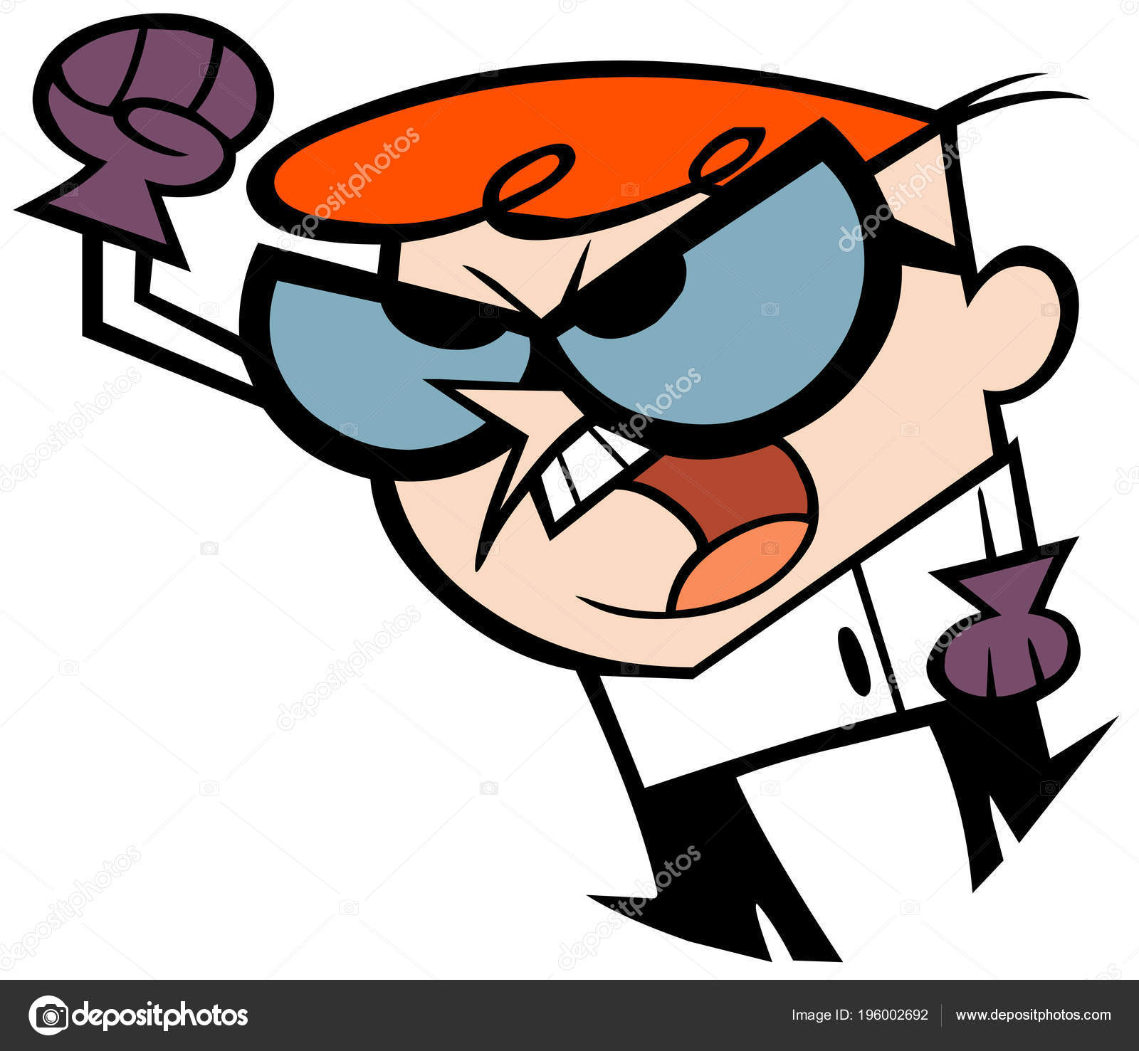 Dexter Laboratory Angry Kids Cartoon Stock Editorial Photo