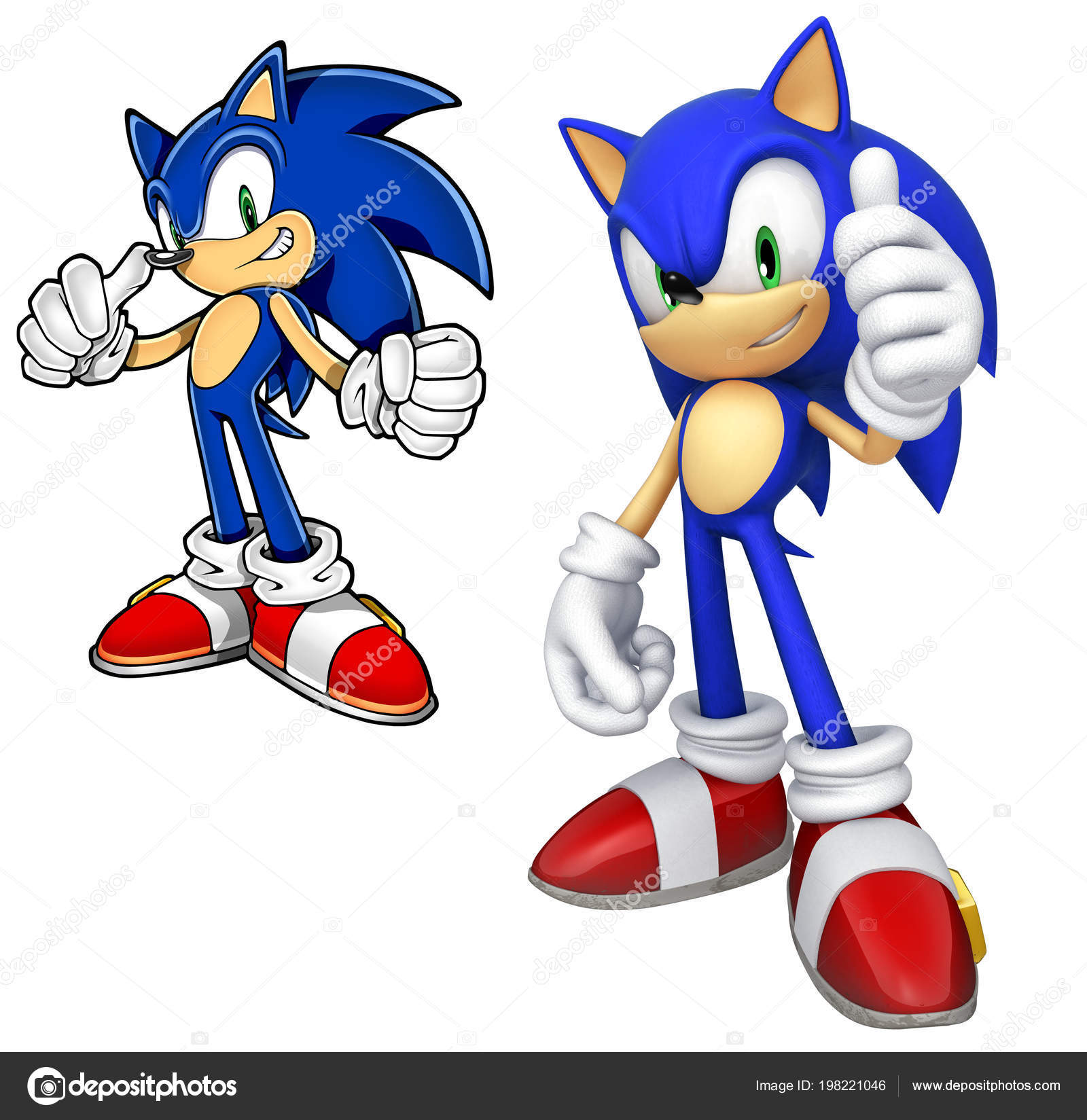 Sonic Hedgehog Illustration Blue Color Video Game Character Stock Editorial Photo C Chutimakuanamon 198221046