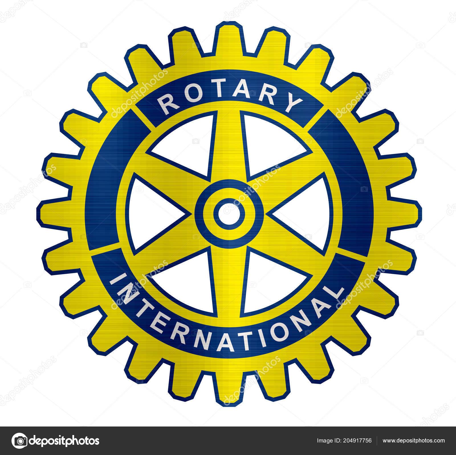 Rotary Club International Organization Logo Metallic Illustration