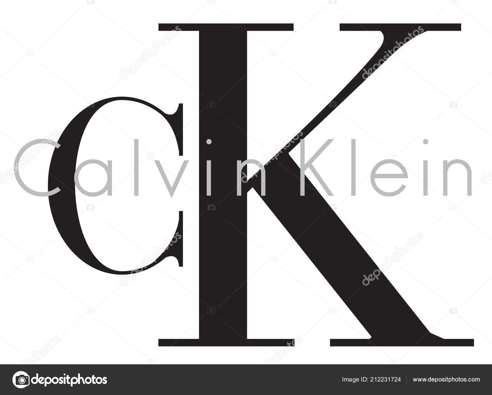 9a5041cf7edfd9 Calvin Klein Logo Luxus Mode Marke Kleidung Illustratio– Redaktionelle  Stock-Fototografie