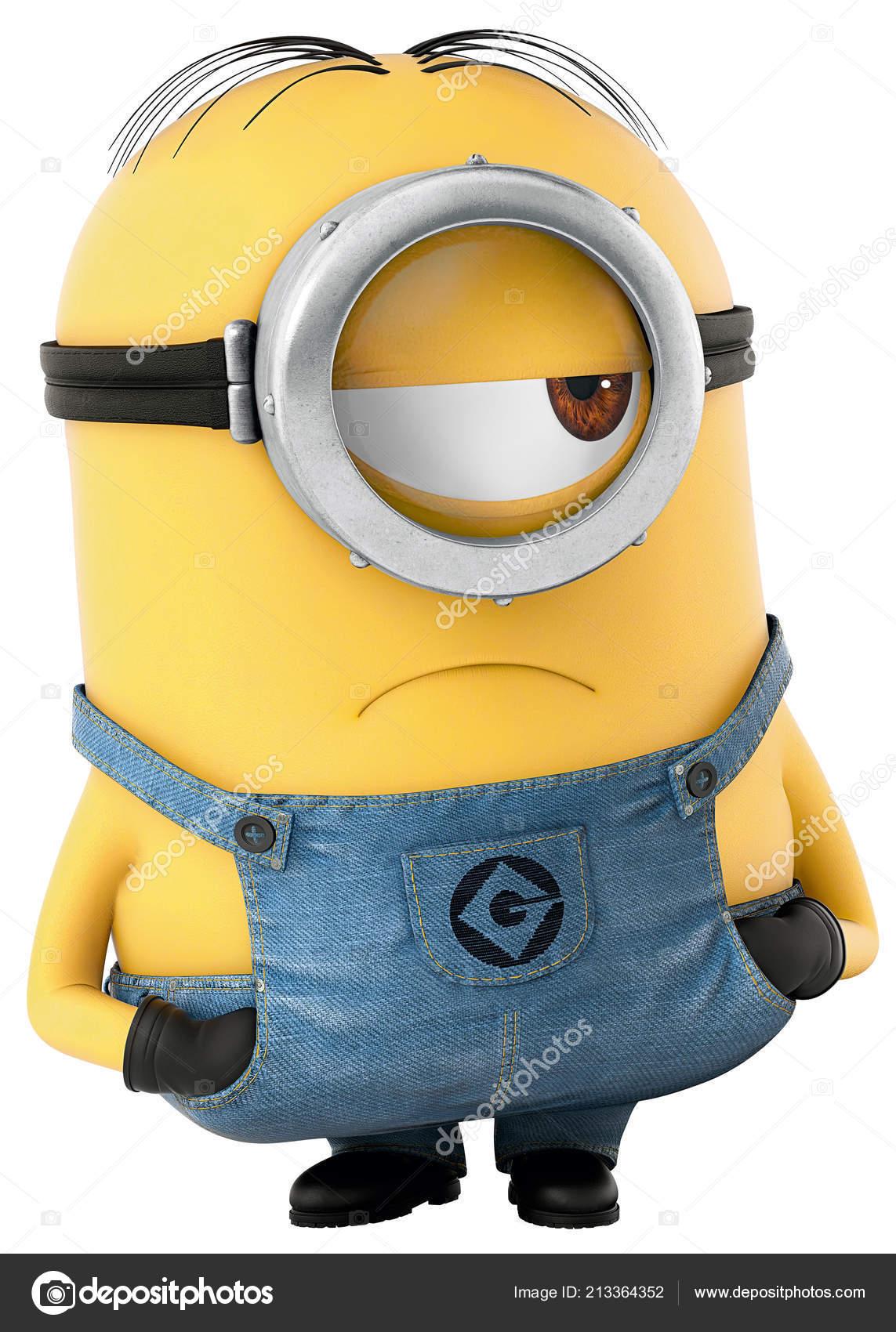 Minion Yellow One Eye Character Funny Movie Illustration Cartoon Stock Photo