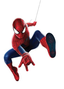 spiderman power hero illustration in action