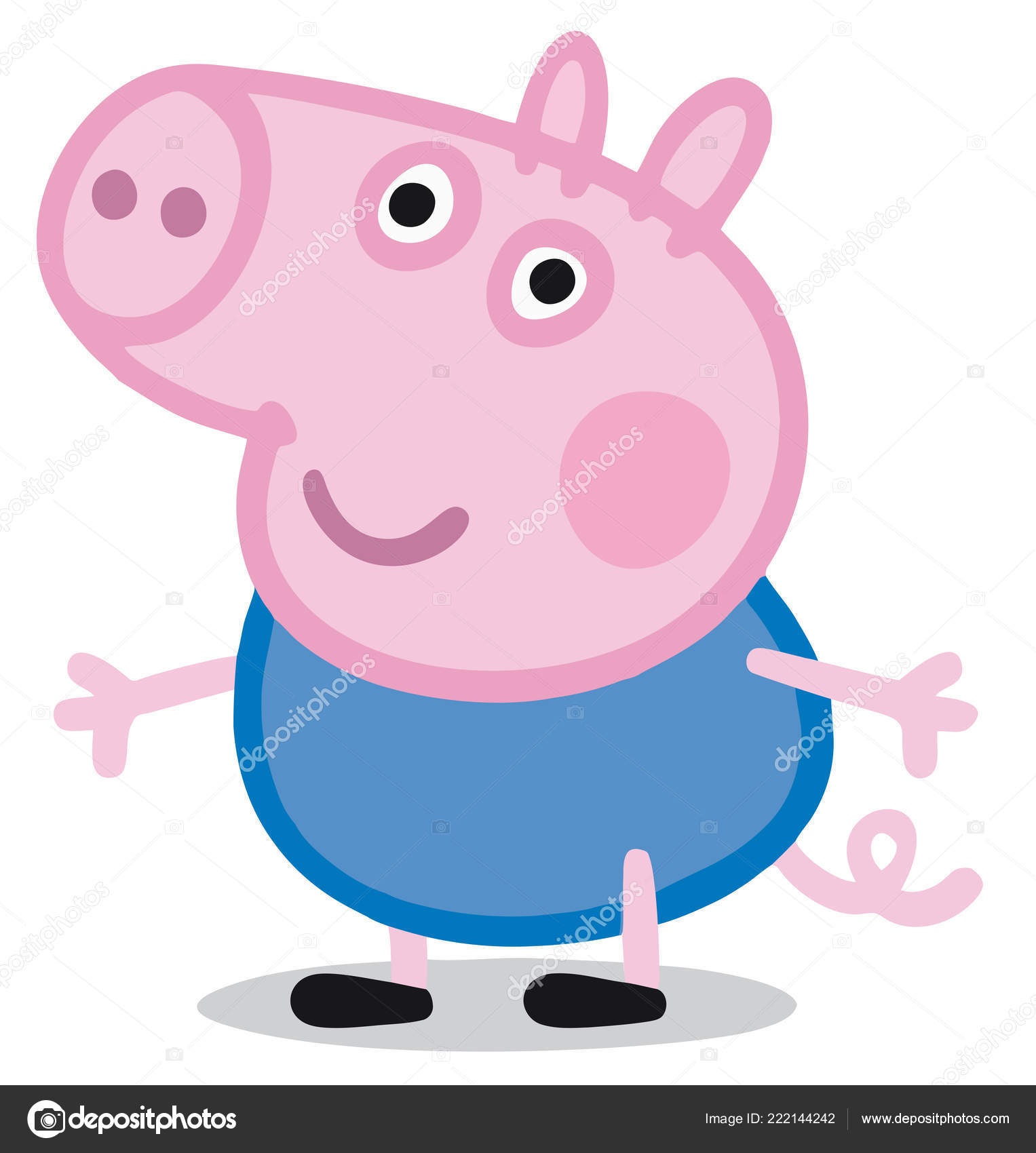 Peppa Pig Kids Cartoon Character George Illustration Stock