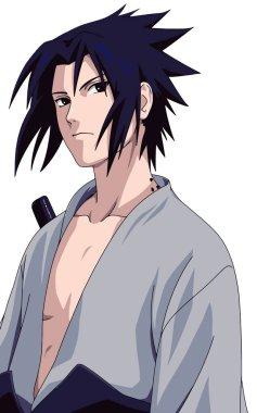 Sasuke Uchiha naruto manga ninja character illustration
