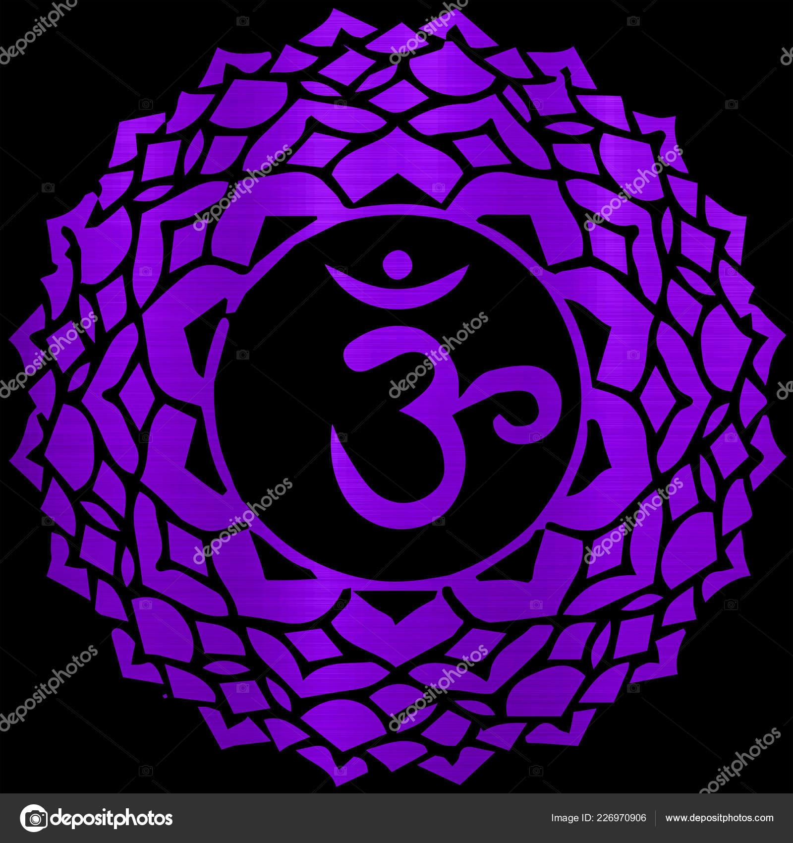Sahasrara Chakra Energy Meditation Yoga Hindu Metallic