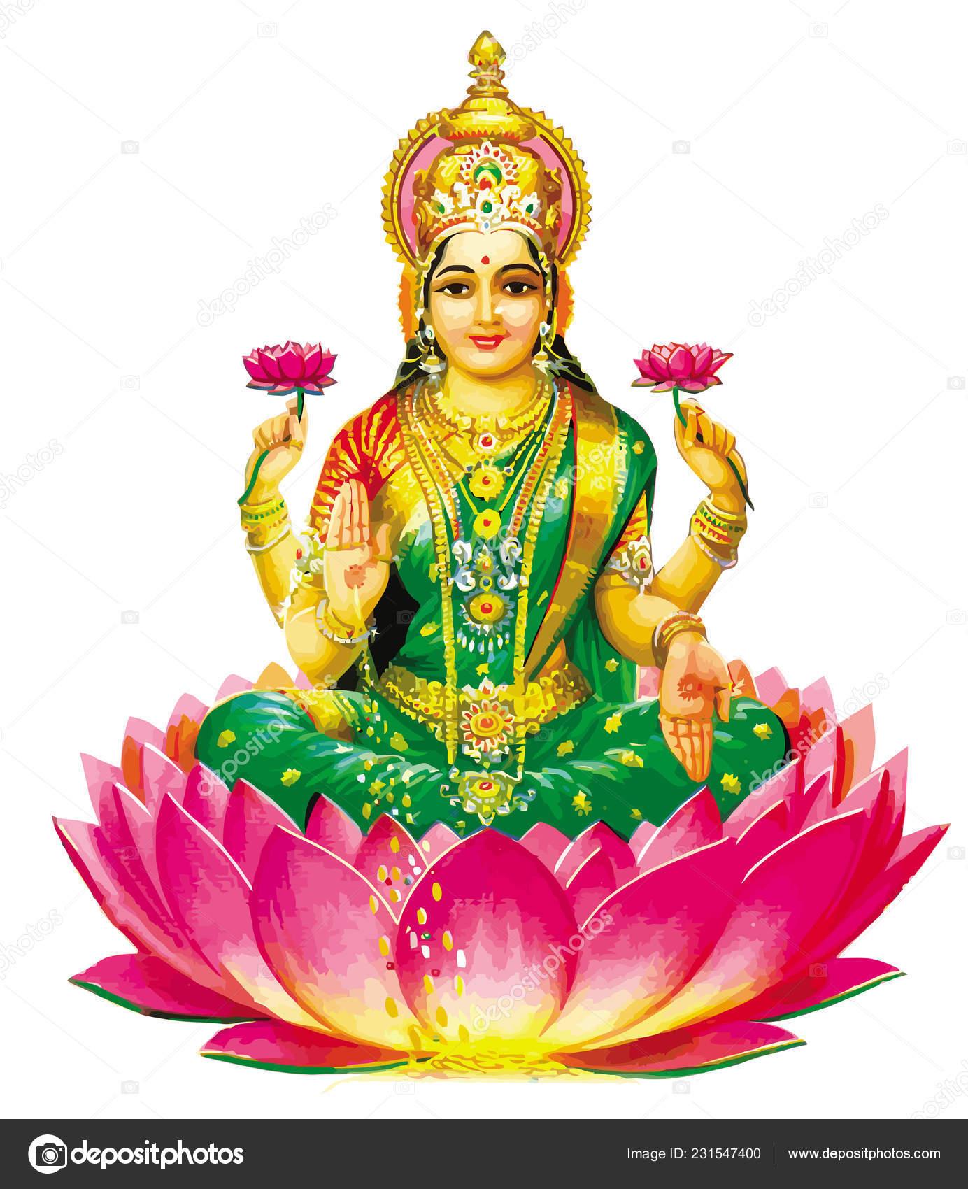 Flower Lotus Hindu Lord Faith Maha Shivaratri Mythology Illustration