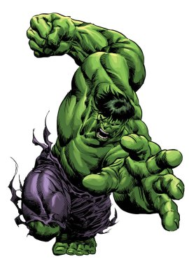 green the incredible muscular hulk  strong power illustration