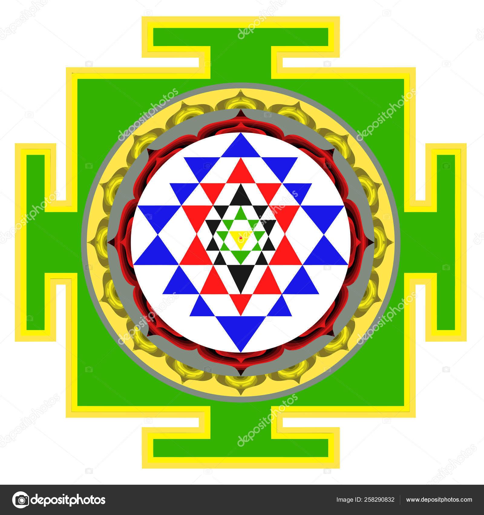 Mandala Sri Yantra Chakra Tantra Spirituality Esoteric Zen