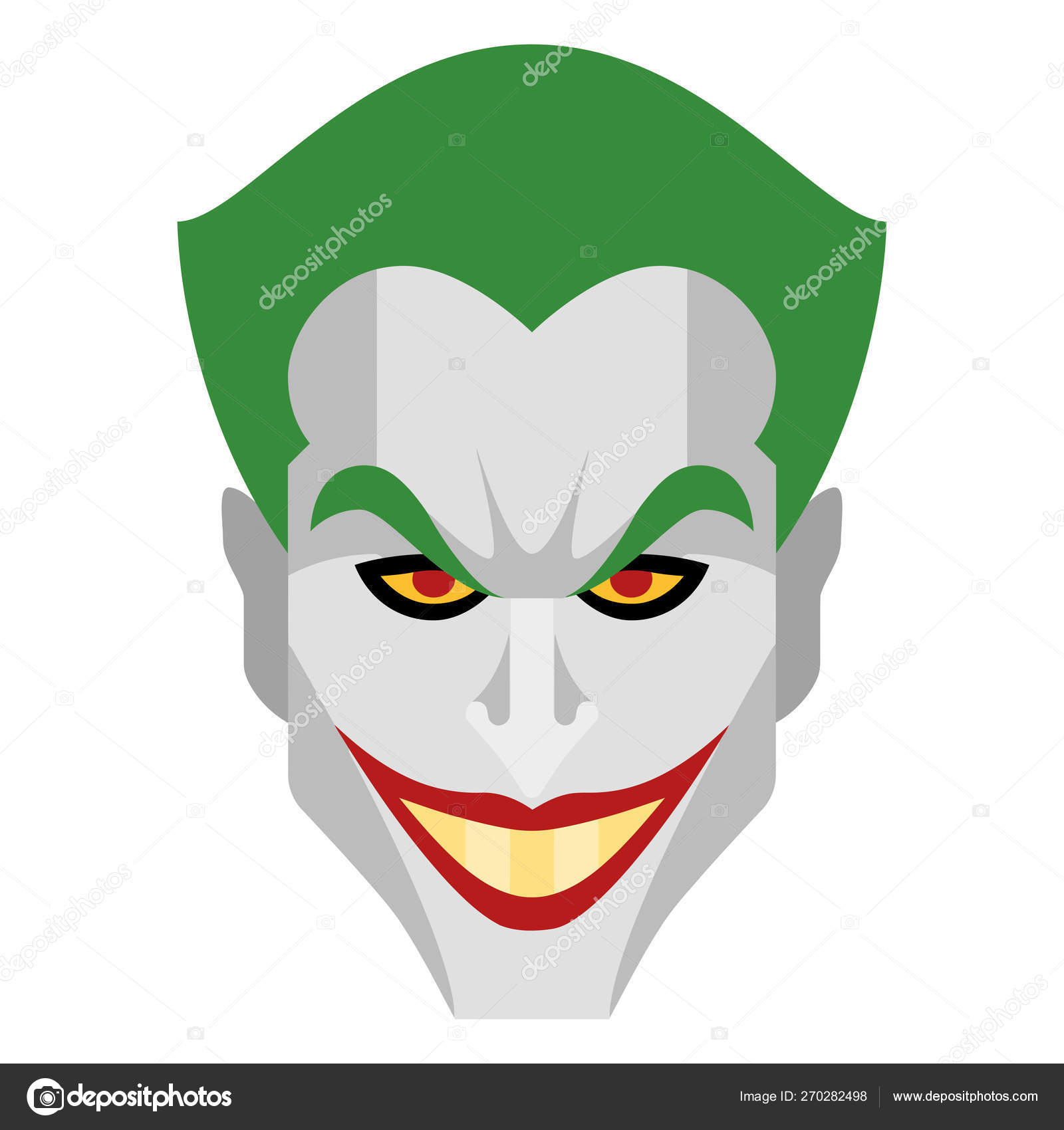 Joker Criminal Villain Illustration Character Cartoon Face