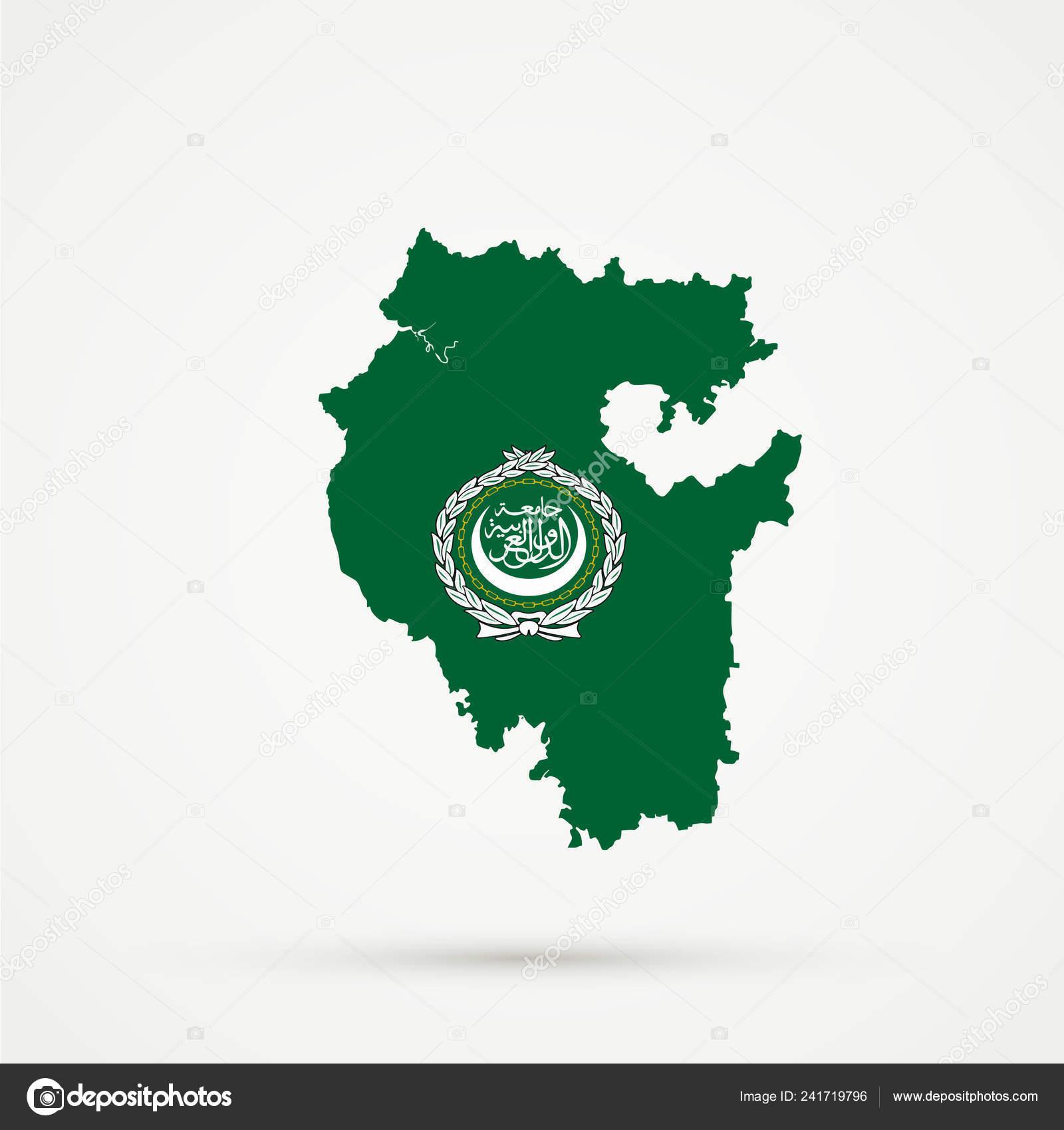 Picture of: Bashkortostan Map Arab League Flag Colors Editable Vector Stock Vector C L8l 241719796