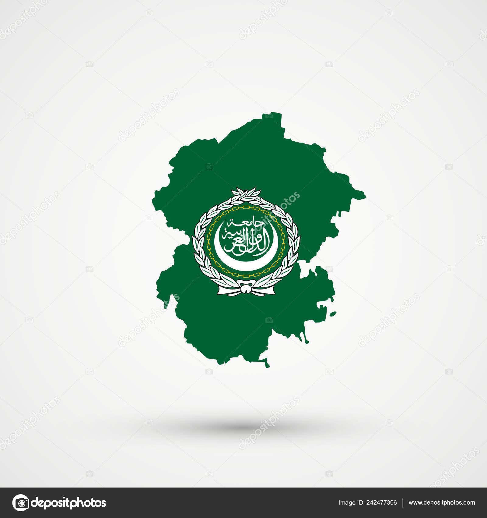 Picture of: Chuvashia Map Arab League Flag Colors Editable Vector Stock Vector C L8l 242477306