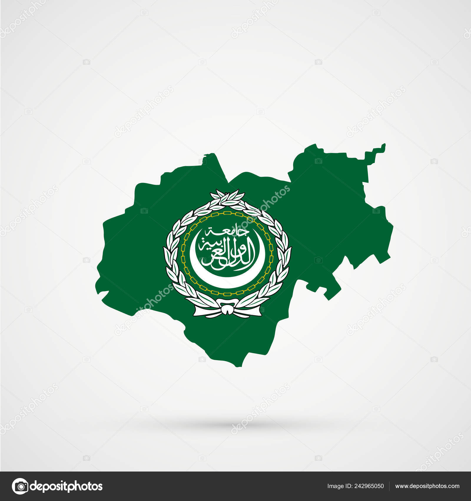 Picture of: Kabardino Balkaria Map Arab League Flag Colors Editable Vector Stock Vector C L8l 242965050
