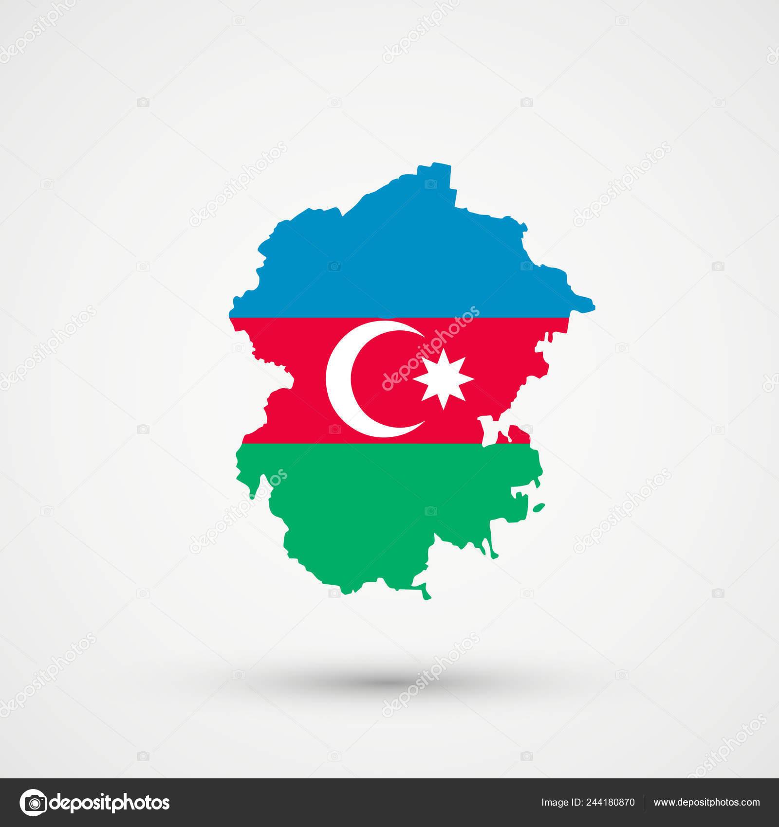 Chuvashia Map Azerbaijan Flag Colors Editable Vector Stock Vector C L8l 244180870