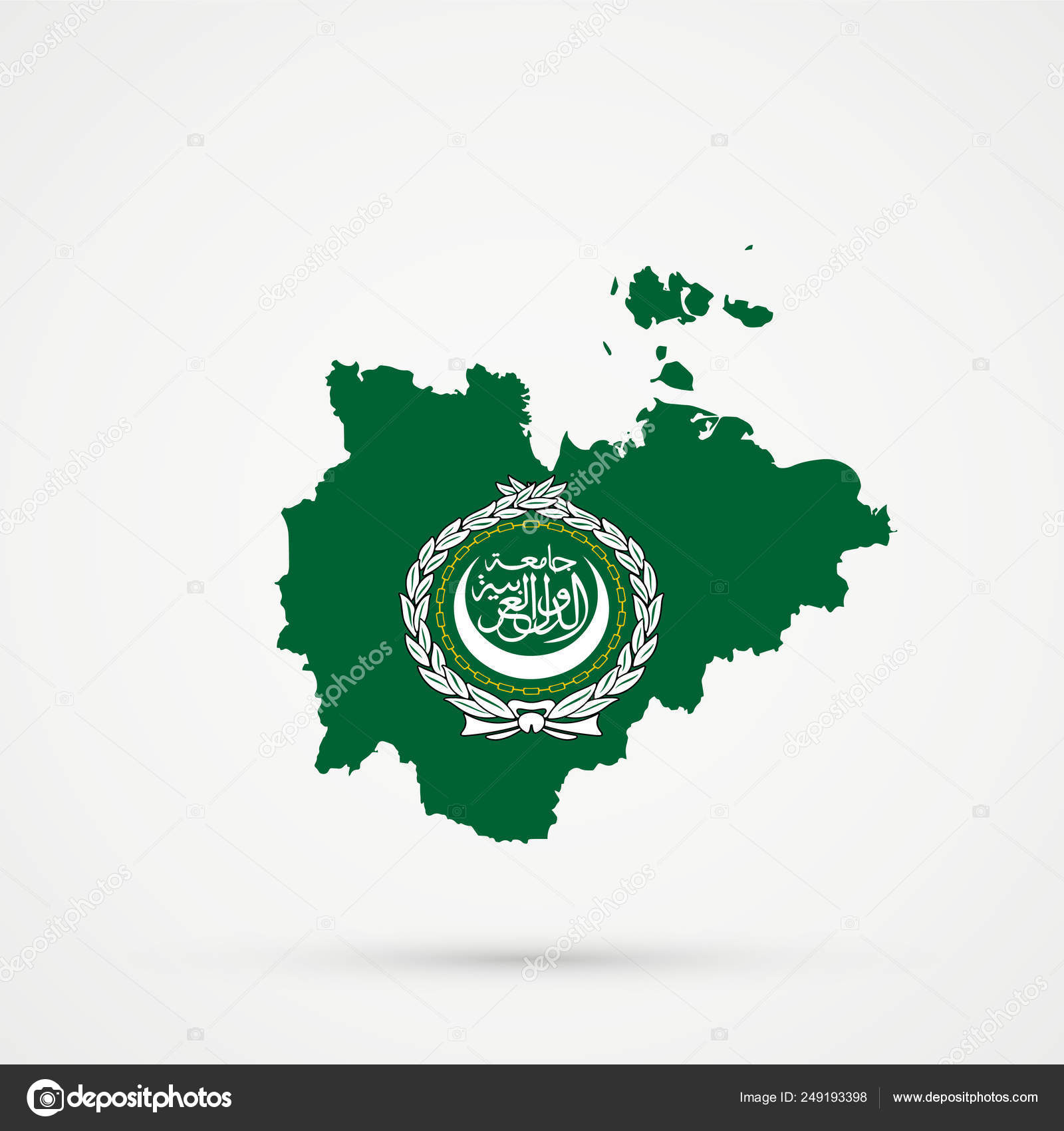 Picture of: Sakha Republic Map In Arab League Flag Colors Editable Vector Stock Vector C L8l 249193398