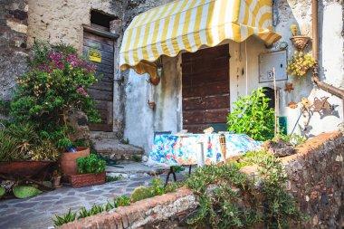RIO NELL ELBA, ELBA ISLAND, ITALY - CIRCA AUGUST, 2011: The streets of Rio nell Elba on Elba Island
