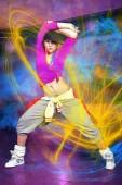 ženy v sportovní oblečení na fitness taneční cvičení nebo aerobik