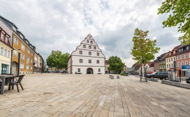 SCHWEINFURT, GERMANY - CIRCA AUGUST, 2018:  The Zeughaus and  townscape of Schweinfurt in Germany