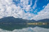 Fotografie Landscapa Tegernsee See und die Berge der Alp