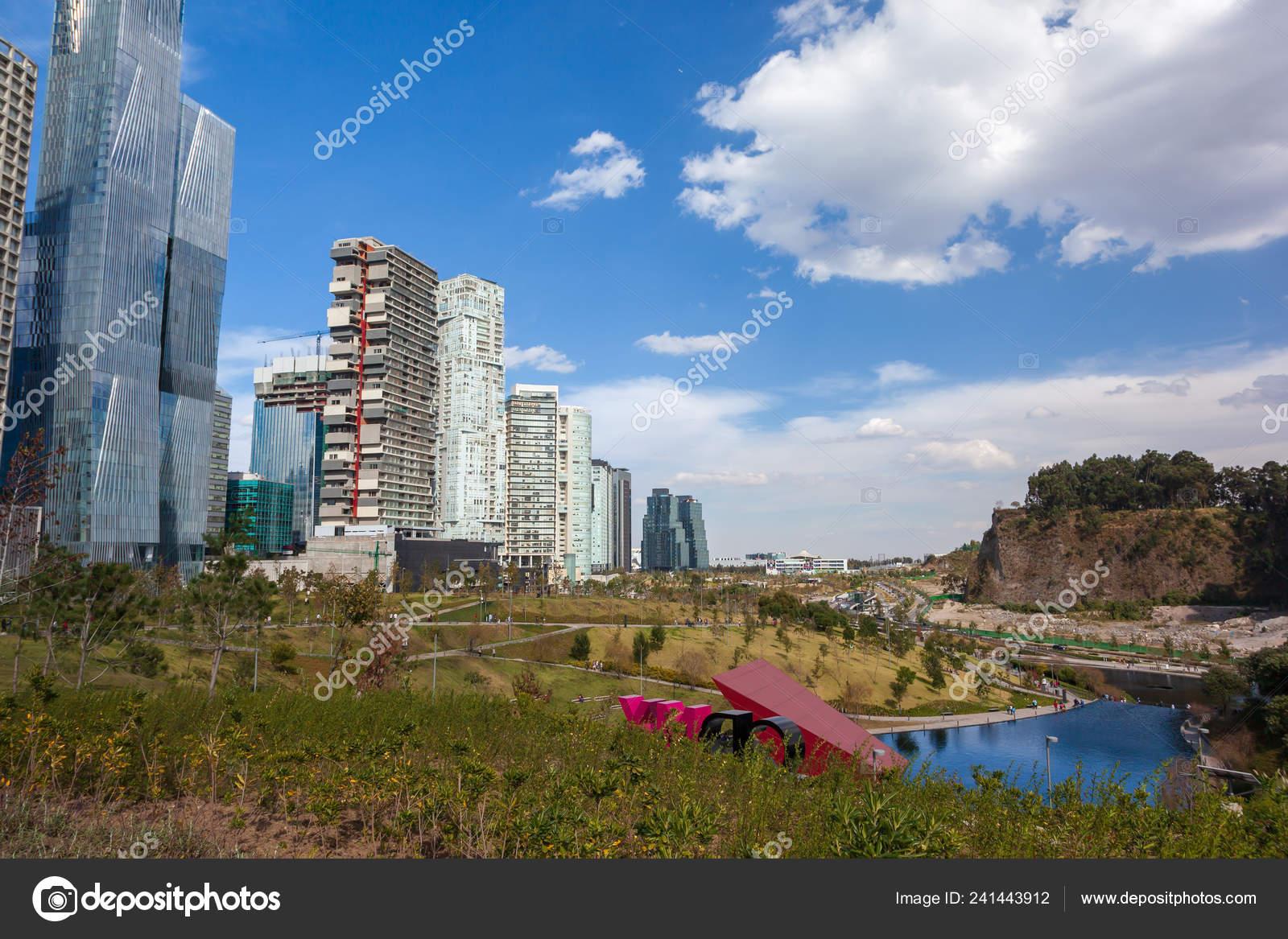 Mexico City Mexico Dec 2018 Mexicana Park Modern Beautiful Skyscrapers Stock Editorial Photo C Chepenicoli 241443912