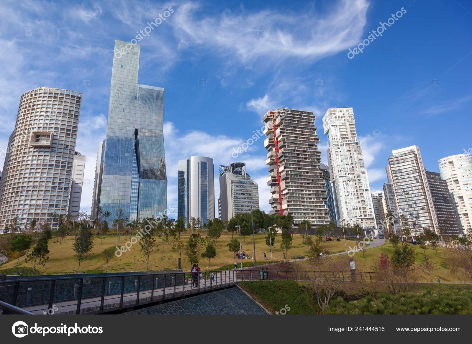 Mexico City Mexico Dec 2018 Mexicana Park Modern Beautiful Skyscrapers Stock Editorial Photo C Chepenicoli 241444516