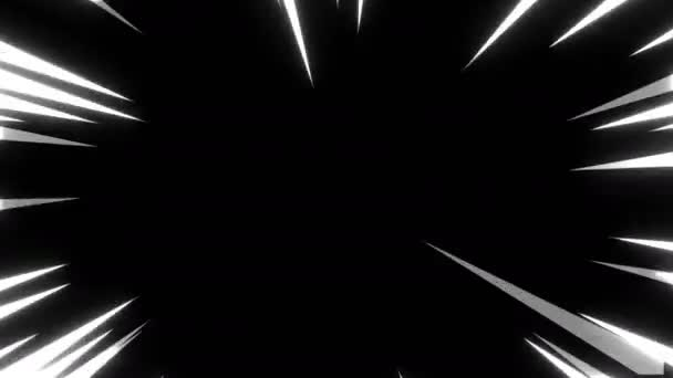 Anime çizgi Roman Hız Radyal Arka Plan Arka Plan Stok Video