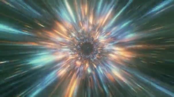 Pozadí abstraktní tajemné nebe, ráje bouři hluboké paprsky tunel, vesmír duše kanál