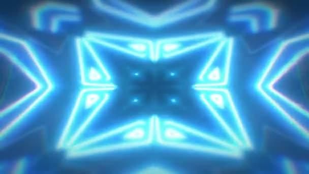 Abstraktní modré bezešvé smyčka kaleidoskop vícebarevné vzory pohybu grafiky pozadí