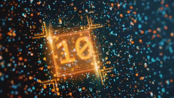 Digitální pozadí abstraktní s šestnáctkové a binárním kódem