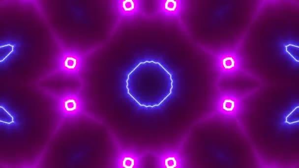 VJ Fractal kaleidoscope background, Background motion with fractal design.