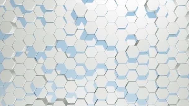 Abstrakte geschlungene Hintergrund bewegen Sechsecke in zufälliger Reihenfolge