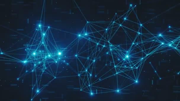 Abstraktní blikat připojených digitálních datových uzlů a cesty připojení v libovolném typu sítě