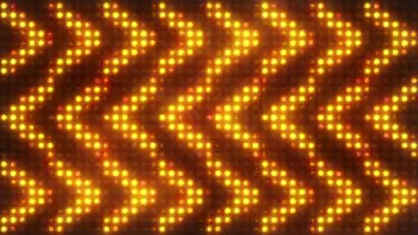 Blikající světla žárovka Spotlight halogeny šipka Vj vedl zdi fázi Led displej blikající světla Motion grafika pozadí pozadí 4k Ultra Hd