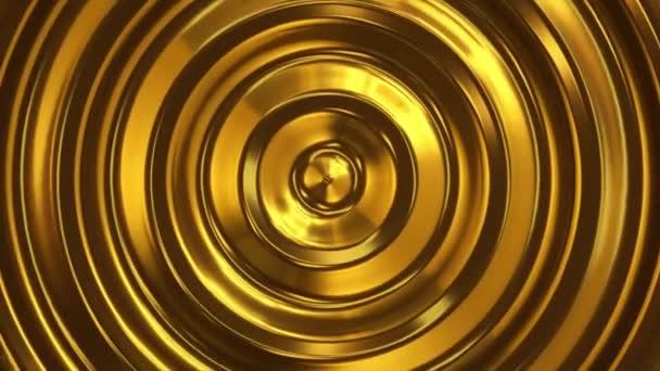 Absztrakt hurok gyűrűző arany 3d wave