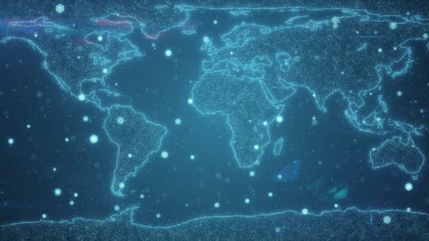 Global Business-Konzept von Verbindungen und Informationsübertragung in der Welt