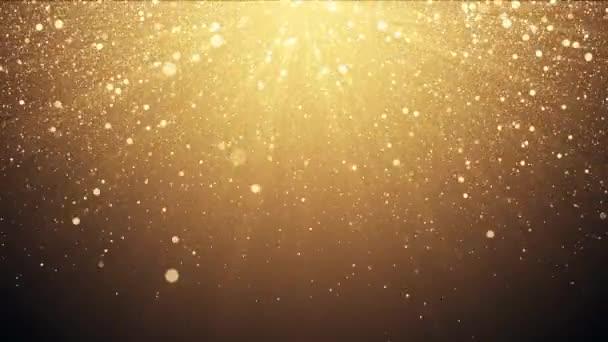 Arany fénylik háttér szikrázó fényét fény konfetti hatása.