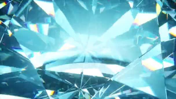 Krásný pomalu rotující diamant. Bezešvé smyčka 4k cg 3D animace, pěkné smyčka abstraktní pozadí.