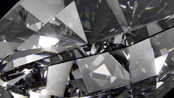Lassan forgó gyémánt, gyönyörű háttér. 4k, közeli, varrat nélküli hurok.