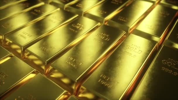 Plynulá smyčka 4k animace zobrazení posuvného fotoaparátu na zlatých barech