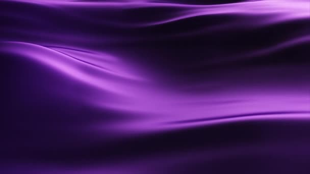 3d render abstract background of a developing fabric. Wave motion on violet silk. Seamless loop 4k animation