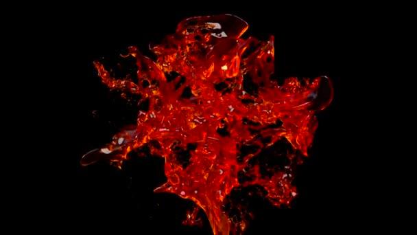 Látványos fröccsenő bor lassított felvételen fekete elszigetelt háttér alfa matt