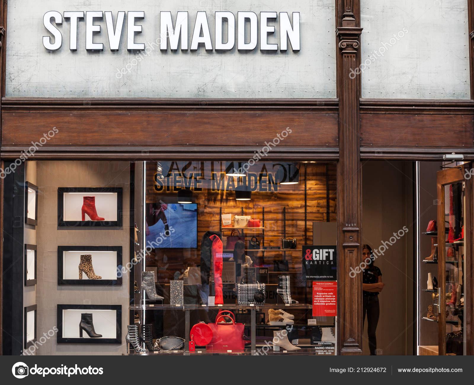 acd492daa15 Belgrade Serbia September 2018 Steve Madden Logo Store Belgrade ...