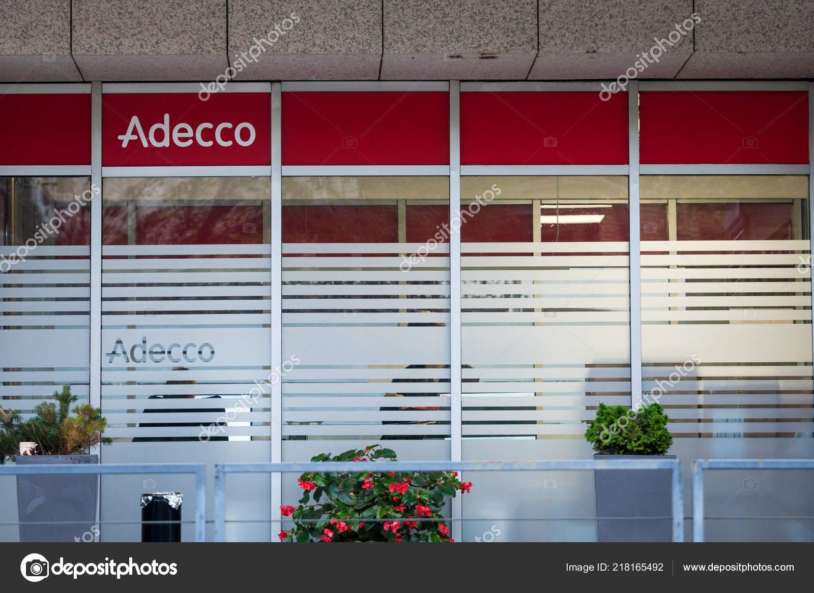 Belgrade Serbia October 2018 Adecco Logo Front Main Office